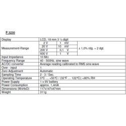 Multimetr Woltomierz 600V AC DC PeakTech 3230